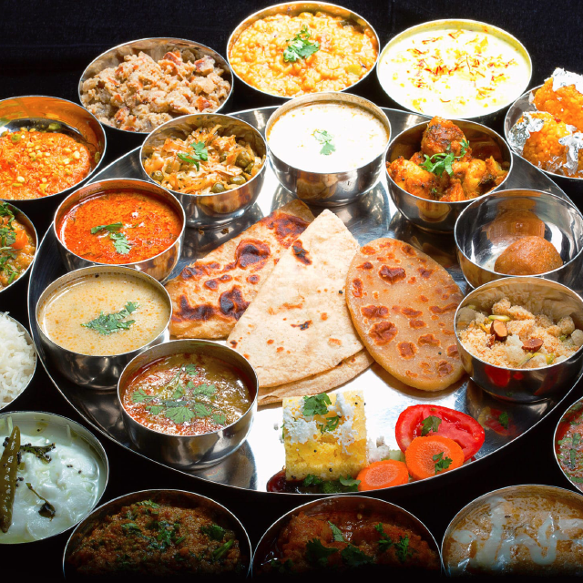 Mouth Watering Delicious Indian Thali